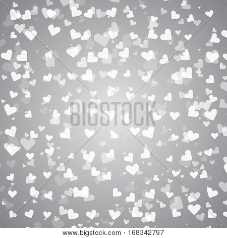 Created pure heart bokeh background stock vector