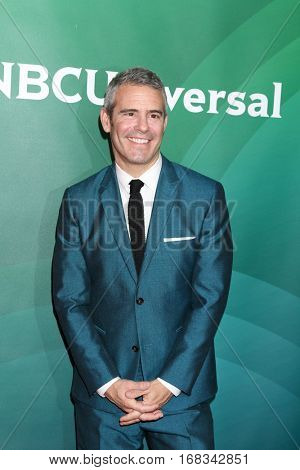 LOS ANGELES - JAN 17:  Andy Cohen at the NBC/Universal Cable TCA Winter 2017 at Langham Hotel on January 17, 2017 in Pasadena, CA