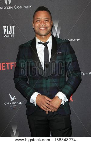 LOS ANGELES - JAN 8:  Cuba Gooding Jr at the Weinstein And Netflix Golden Globes After Party at Beverly Hilton Hotel Adjacent on January 8, 2017 in Beverly Hills, CA