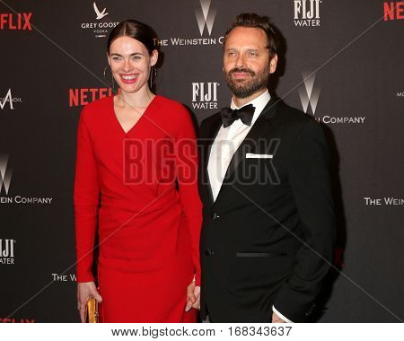 LOS ANGELES - JAN 8:  Kassandra Jensen, Dustin O'Halloran at the Weinstein And Netflix Golden Globes After Party at Beverly Hilton Hotel Adjacent on January 8, 2017 in Beverly Hills, CA