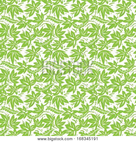 Ethnic green pattern