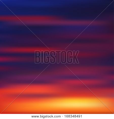 Late sunset gradient mesh background. Vector illustration