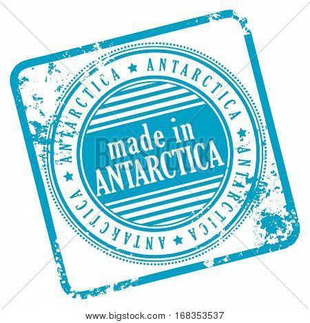 Grunge rubber stamp made in Antarctica, vector