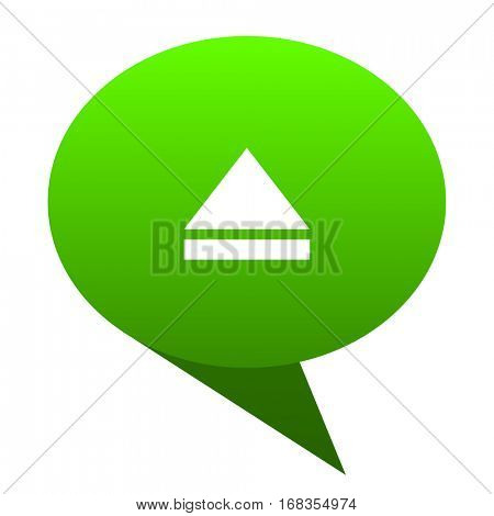 eject green bubble web icon