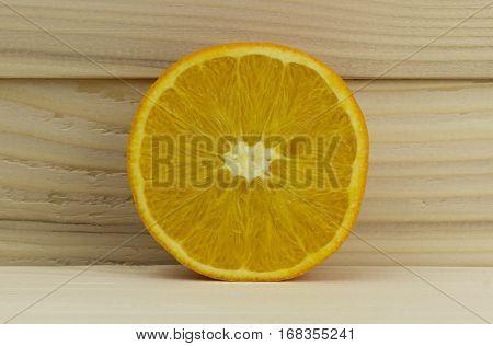cut fresh juicy natural sour orange vitamin