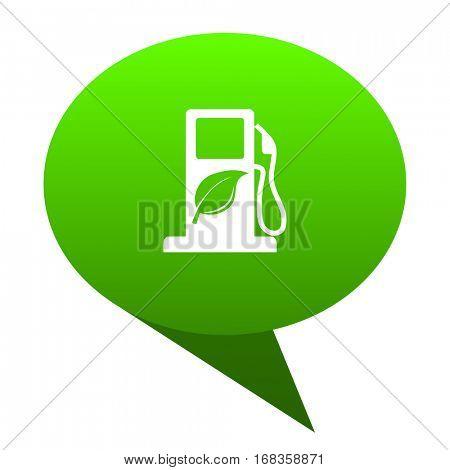 biofuel green bubble web icon