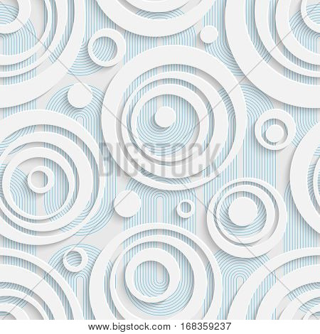 Seamless Circle Pattern. Abstract Fine Background. Futuristic Three-dimensional Wallpaper. Elegant Decorative Design
