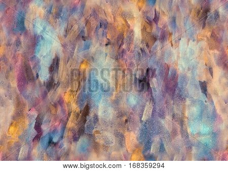 Hand painted Watercolor luminous iridescent seamless pattern. Abstract squama. Texture for textiles packaging greeting cards scrapbooking.