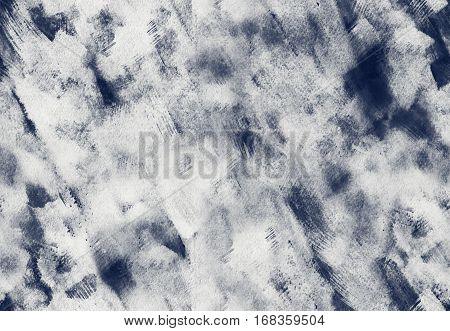Hand painted ink seamless pattern with abstract brushstrokes. Grunge texture for textiles packaging greeting cards scrapbooking.