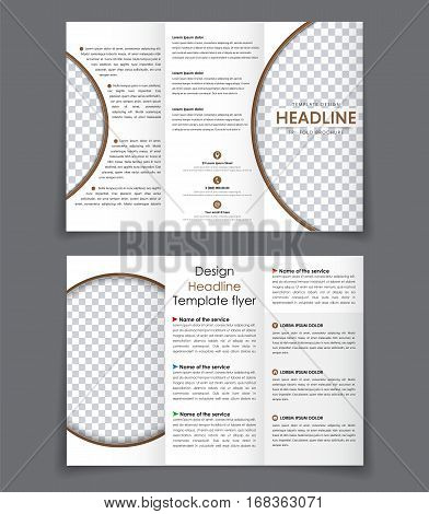 Design Folding Brochures With Brown Elements.