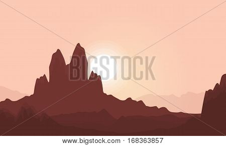 Vector illustration of cliff landscape collection stock