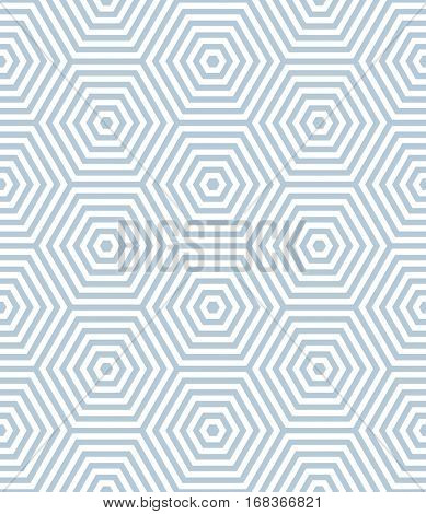 Seamless pattern with elements in hexagon shape. Geometric texture. Vector art.