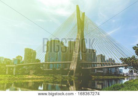 Sao Paulo bridge, Brazil.