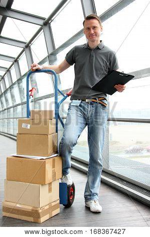 delivery guy handling your recent online order