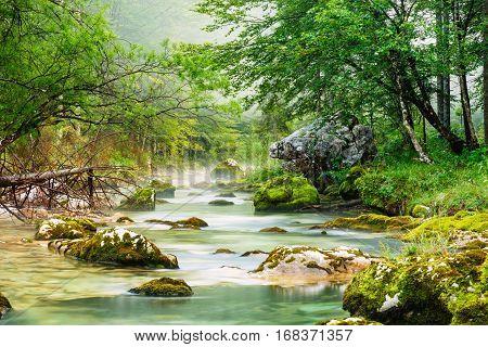 Canyon Mostnica Near Lake Bohinj In Slovenia