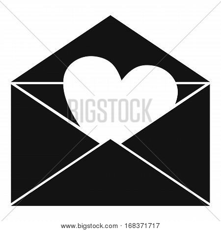 Envelope with Valentine heart icon. Simple illustration of envelope with Valentine heart vector icon for web