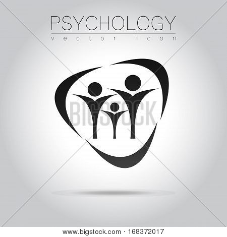 Modern people psi Sign of Psychology. Family. Creative style. Icon in vector. Design concept.
