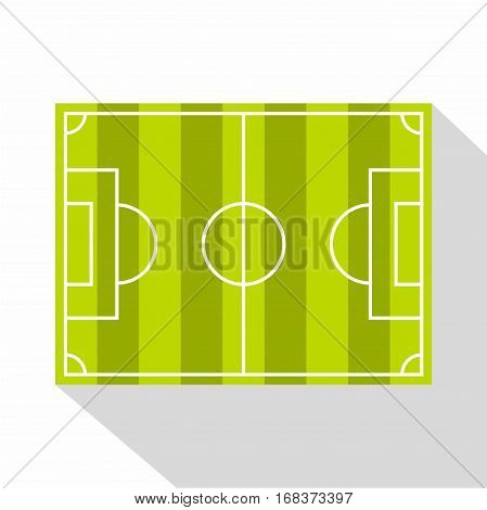 Soccer field or football grass field icon. Flat illustration of soccer field or football grass field vector icon for web   on white background