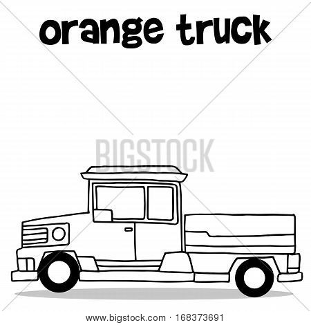 Transport of pickup hand draw vector art