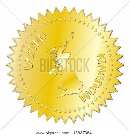 Uk Gold Seal Of Approval Badge