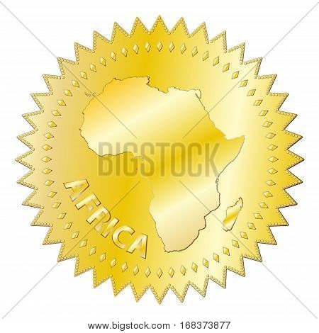 Africa Gold Seal Of Approval Badge