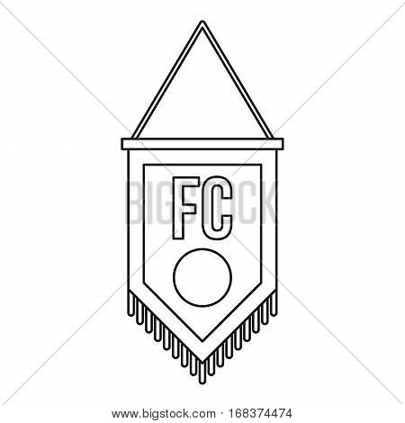 Soccer pennant icon. Outline illustration of soccer pennant vector icon for web