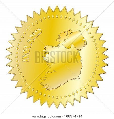 Ireland Gold Seal Of Approval Badge