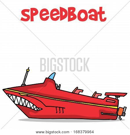 Collection stock of speedboat transport vector art