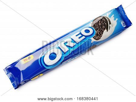 Oreo Original Chocolate Sandwich Cookie Isolated On White