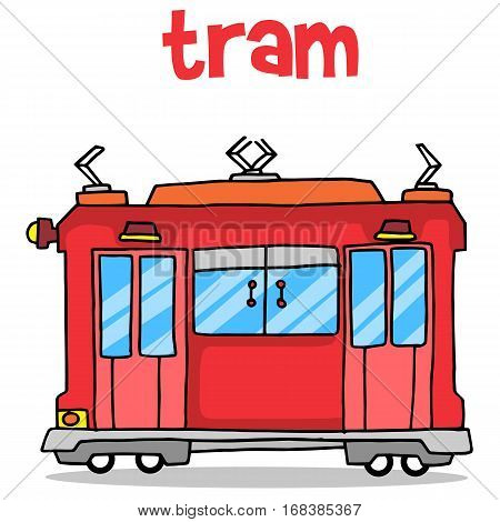 Transport of tram vector illustration collection stock