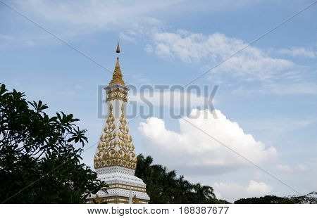 Phra That Phanom Pagoda Simulate In Bangkok, Chedi Nakhon Phanom Thailand.