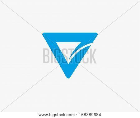 Letter V logo  design abstract ,logo icon design template.