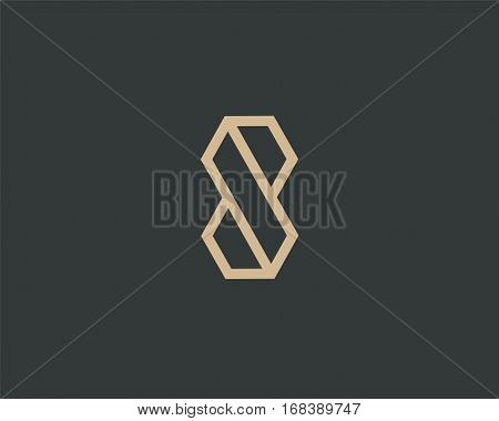 Letter S logo line design abstract , logo icon design template.