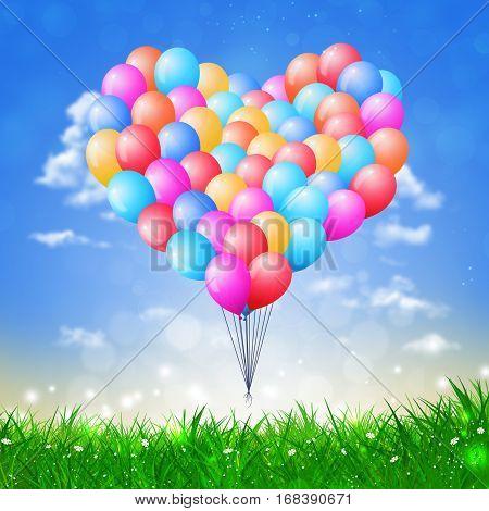 Heart Shape Air Ballons