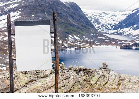 Empty Board On Djupvatnet Lake, Norway