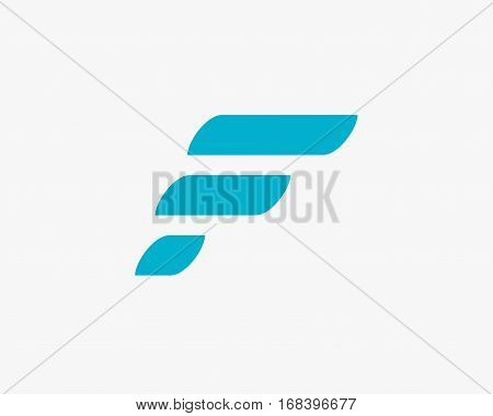 F Letter logo Abstract design ,fast sport letter f logo icon design template.