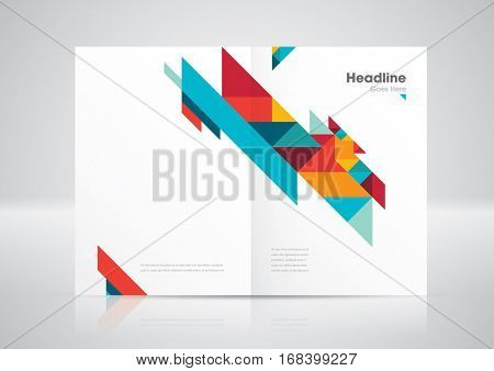 Vector of modern geometric element and background