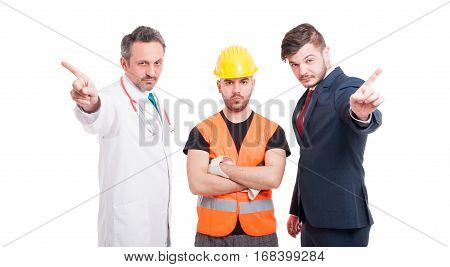 Group Of Men With Different Professions