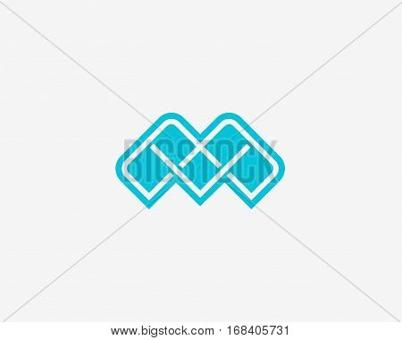 Abstract letter M icon alphabet symbol. Letter M logo icon design vector sign.