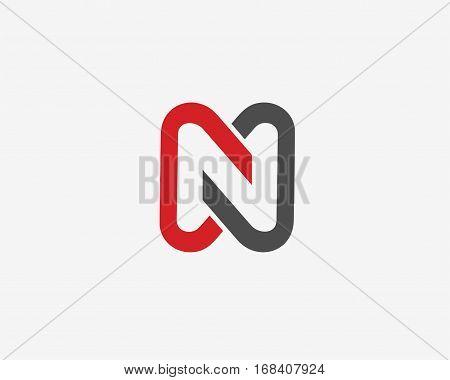 Letter N icon alphabet symbol. Letter N logo icon design vector sign.