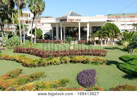 Cayo Coco Cuba 16 january 2016 - park of hotel Sol on Cayo Coco Cuba