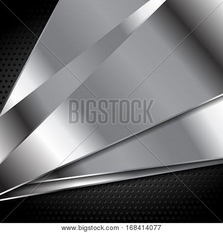 Abstract metal texture tech background. Grey silver metal tech vector design eps 10