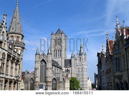 Stunning Landmark, Saint Bavo Cathedral in Ghent Belgium