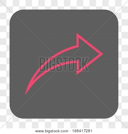 Redo interface toolbar button. Vector icon style is a flat symbol in a rounded square button pink and gray colors chess transparent background.