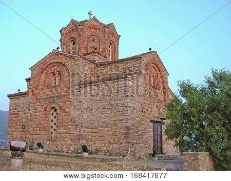 Church of St. John the Evangelist city of Ohrid Macedonia.