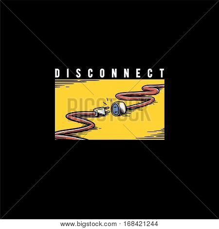 Disconnect Vector Graphic Concept