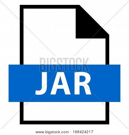 Use it in all your designs. Filename extension icon JAR Java Archive in flat style. Quick and easy recolorable shape. Vector illustration a graphic element.