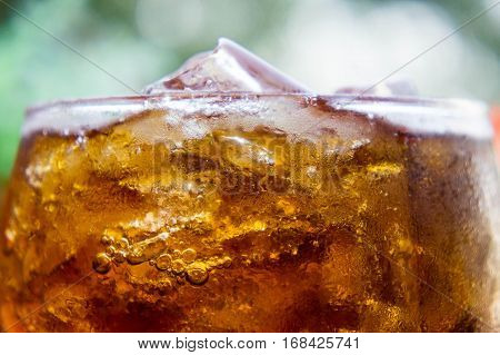 Soft drinks Quenching drinks that many people like.