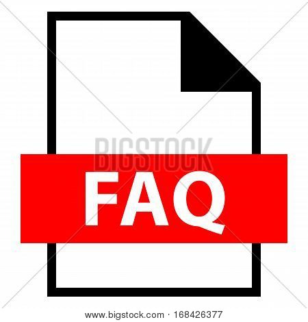 Use it in all your designs. Filename extension icon FAQ Frequently Asked Question Document in flat style. Quick and easy recolorable shape. Vector illustration a graphic element.