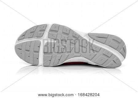 Unbranded modern sneaker isolated on a white background. Soleplate sneakers.